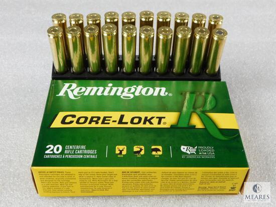 20 Rounds Remington 30-06 Ammo. 180 Grain Core Lokt Soft Point.