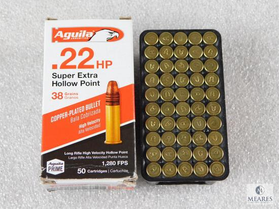 50 Rounds Aguila .22 Long Rifle Ammo. 38 Grain Hollow Point High Velocity.
