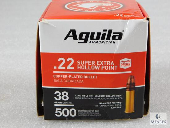 500 Rounds Aguila .22 Long Rifle Ammo. 38 Grain Hollow Point High Velocity.