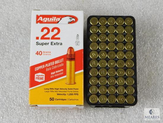50 Rounds Aguila .22 Long Rifle Ammo. 40 Grain Soft Point High Velocity.