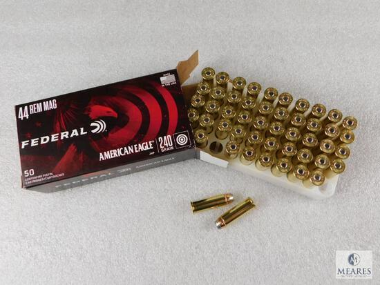 50 Rounds Federal .44 Magnum Ammo. 240 Grain Jacketed Hollow Point.