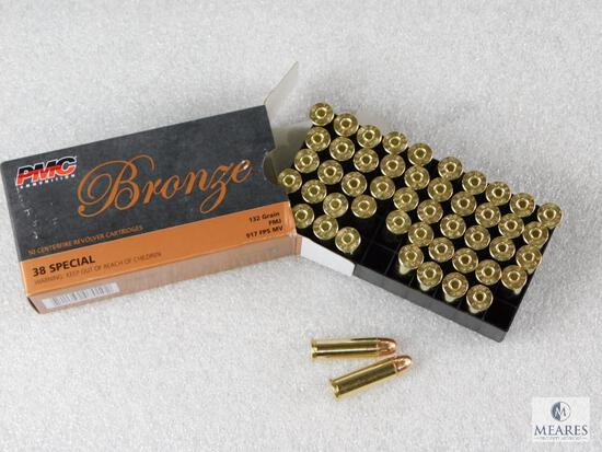 50 Rounds PMC .38 Special Ammo. 132 Grain FMJ.