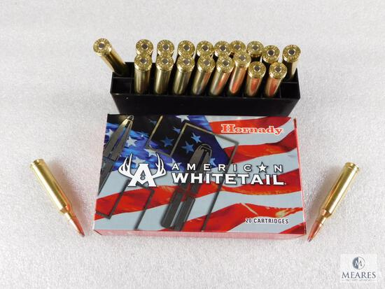 20 Rounds Hornady American Whitetail 7MM Remington Magnum Ammo. 139 Grain.
