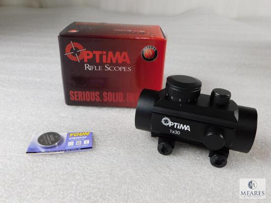 New Optima 30mm Red Dot With Weaver Mount