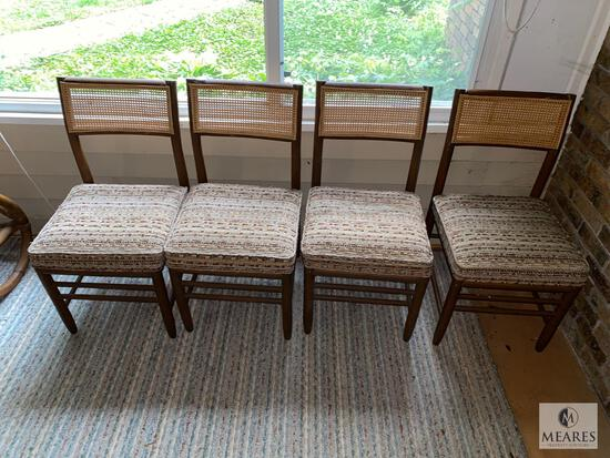 Four Matching Vintage Caneback Occasional Chairs
