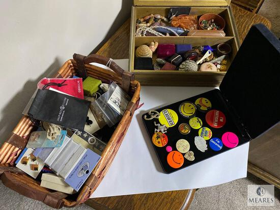 Assorted New, Vintage, and Antique Jewelry and Boxes