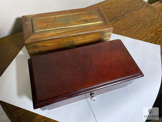 Gentleman's Valet Boxes with Antique Pipes