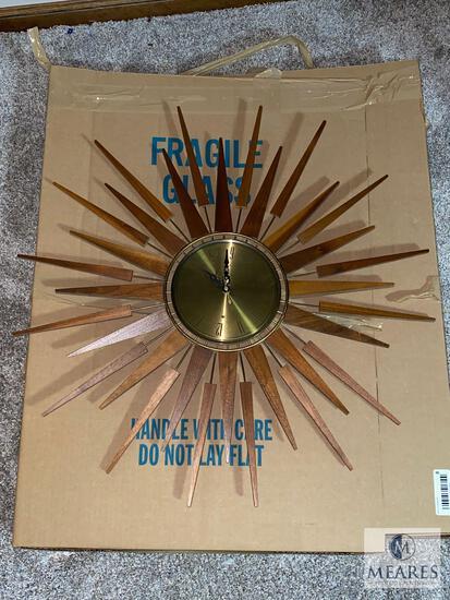 Vintage Seth Thomas Starflower Wall Clock