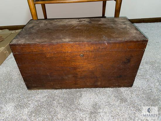 Vintage Tool Chest with Small Assortment of Tools