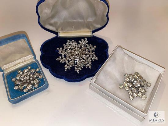 Stunning Trio of Vintage Brooches