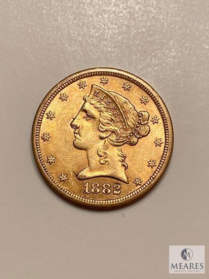 1882-S Five Dollar Liberty Gold Coin