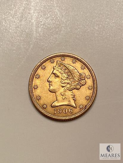 1906 Five Dollar Liberty Gold Coin