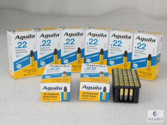 400 Rounds Aguila .22 Long Rifle Subsonic Ammo 40 Grains