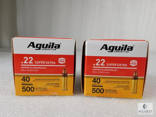 1000 Rounds Aguila .22 Long Rifle Ammo 40 Grain Copper Plated