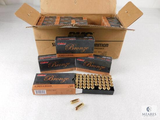1000 Rounds PMC .40 S&W Ammo 165 Grain FMJ (Full Case)