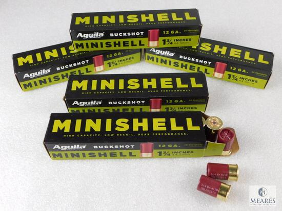 "100 Rounds Aguila Minishell .12 Gauge Buckshot 1 3/4"""