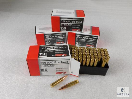 200 Rounds Aguila 300 Blackout Ammo 150 Grain FMJ