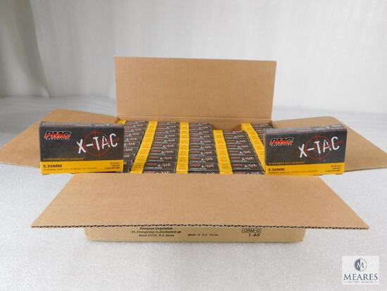 1000 Rounds PMC X-tac 5.56 Ammo 55 Grain FMJ Boat TAIL (Full Case)