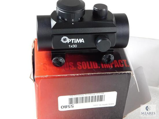New Optima 30mm Red Dot With Adjustable Brightness And Weaver Style Mount