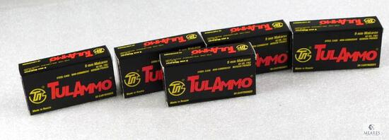 250 Rounds 9mm Makarov Ammo. 92 Grain FMJ