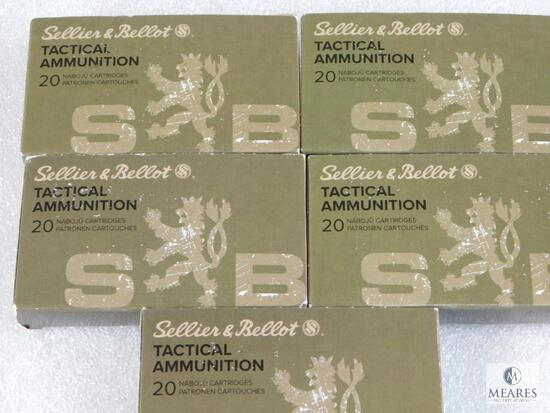 100 Rounds S&B 300 Blackout Ammo. Subsonic 200 Grain FMJ