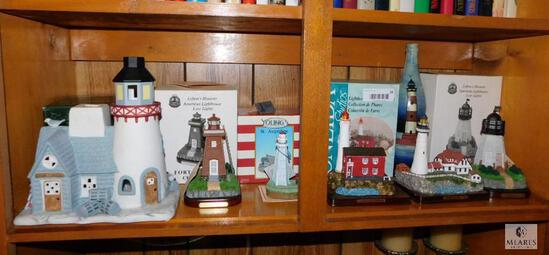 7 Piece Lot of Collectible Lighthouses - Some Original Boxes Included