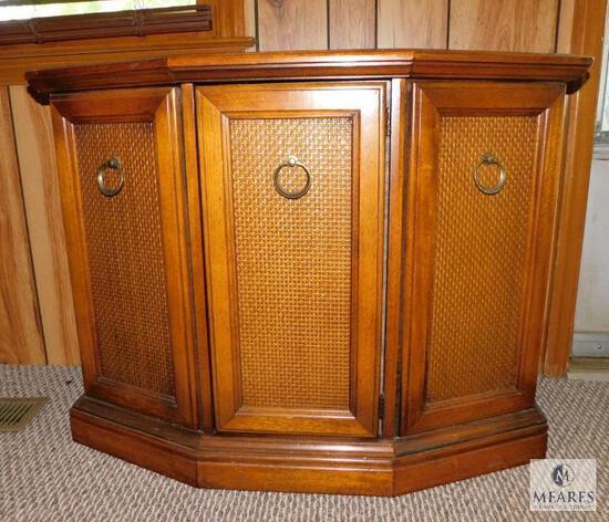 Wood Hall Table Single Door