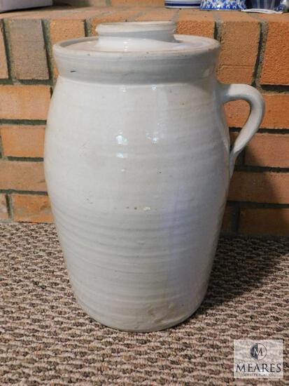 Large Vintage Stoneware Pottery Churn #3