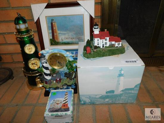 Lot Decorative & Collectible Lighthouse Items