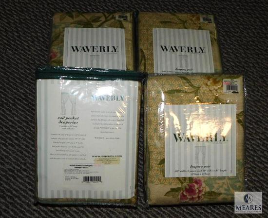 Set of 4 New Waverly Drapery Pairs Ming Dynas Antique Pattern