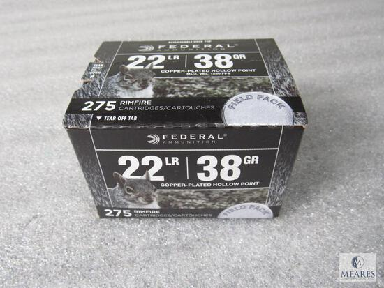 275 Rounds Federal .22 LR 38 Grain Ammo