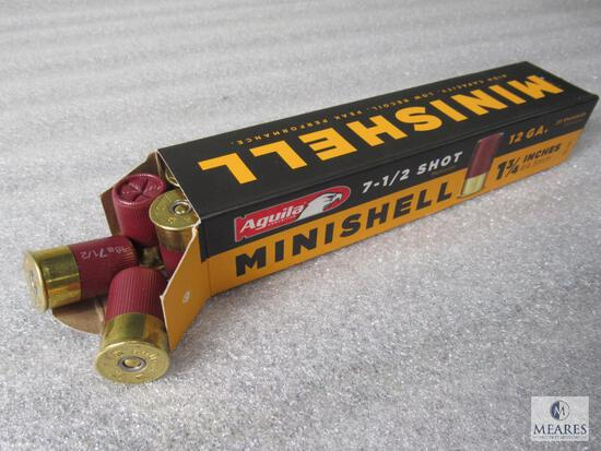 "20 Rounds Aguila Minishell 12 Gauge 7-1/2 Shot 1-3/4"" Shotgun Shells"