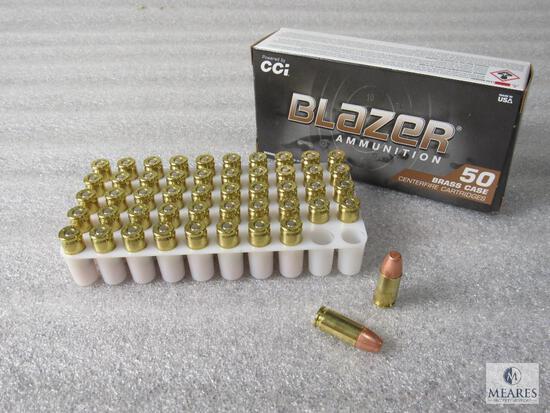 50 Rounds Blazer 9mm Luger 147 Grain FMJ Ammo Brass Case