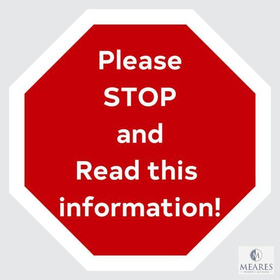 BUYERS - PLEASE READ BEFORE PROCEEDING