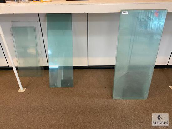 Assortment of Various Sized Glass Shelves