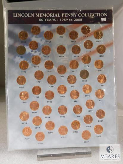 1959-2009 Complet BU Lincoln Memorial Penny Collection Factory Sealed