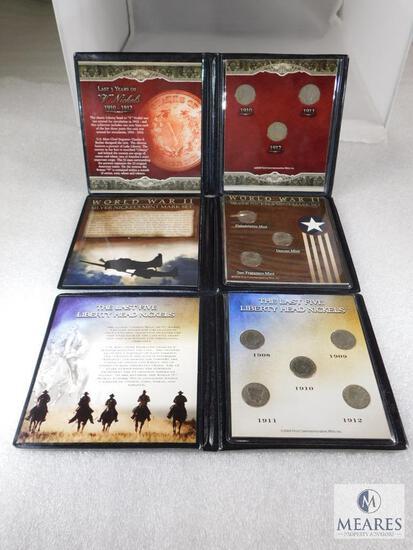 3 Nickel Sets: WWII Silver Nickels, Last 5 years of Liberty, Last 3 Years of American