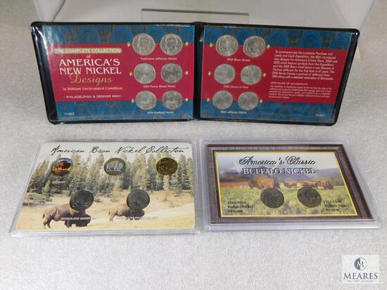 3 Nickel Sets; Complete Collection of America's New Nickel Presidents in BU P&D Mints
