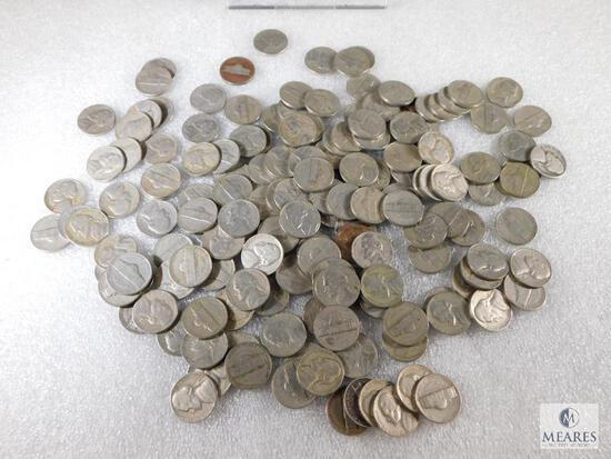 4 Rolls Jefferson Nickels All 1940's & 1950's
