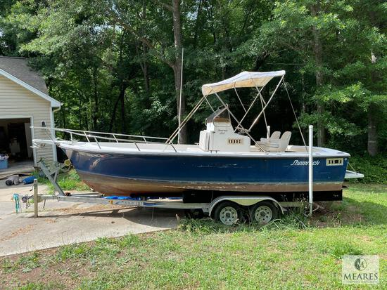 1992 Shamrock 200 Open Center Console Boat with Inboard Engine