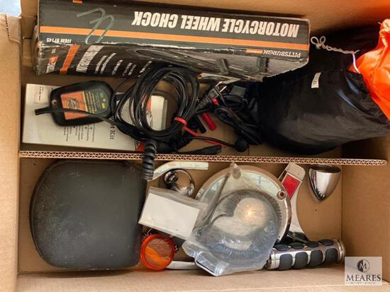Mixed Lot of Motorcycle Parts and Accessories