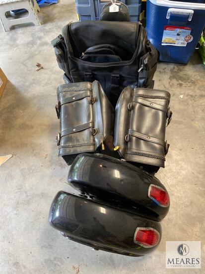 Motorcycle Lot - Saddlebags and Backpack