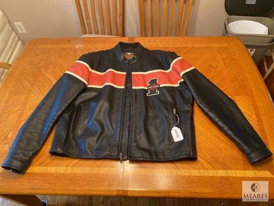 Leather Harley-Davidson Motorcycle Jacket - Size 2XL
