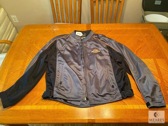 Summer-weight Harley Davidson Motorcycle Jacket - Size 2XL