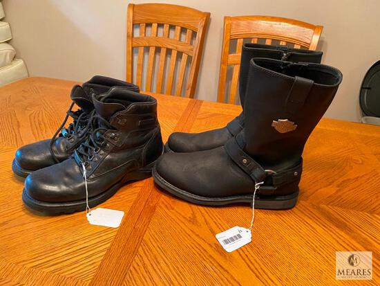 Two-pair Harley Davidson Motorcycle Boots