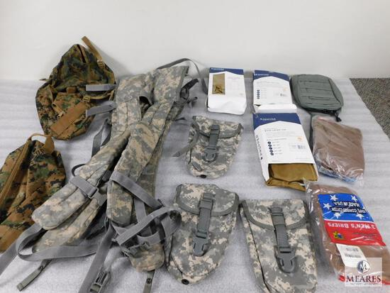 Lot Military Bags & Approximately 3 Propper Right To The Core Midweight Base Layer Tops