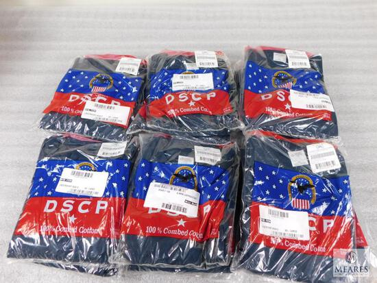 Lot of Approximately 25 Campbellsville Apparel Co.Navy DSCP 100% Combed Cotton Mens Undershirts