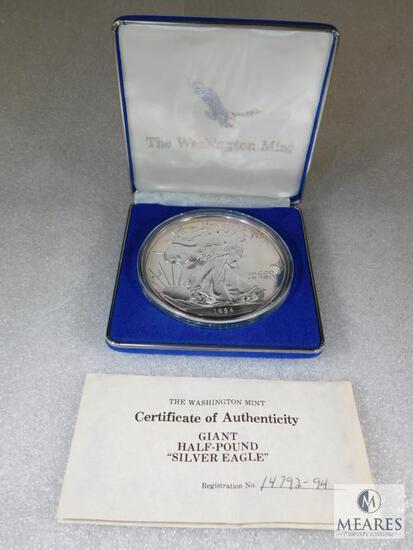 1994 Washington Mint Giant Half-Pound Silver Eagle Coin
