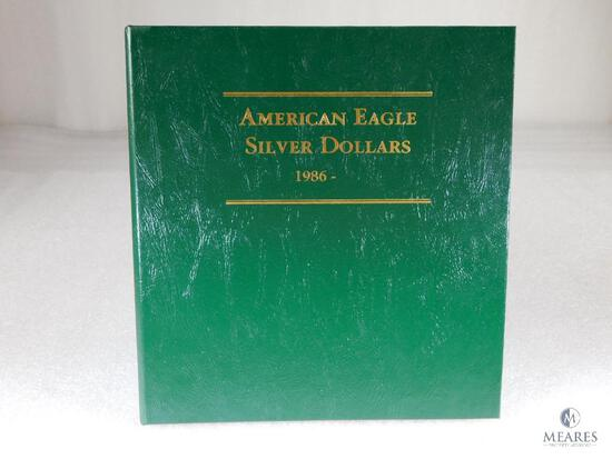 American Eagle Silver Dollar Collection in Archival Quality Binder - 1986 to 2001