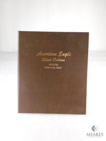 American Eagle Silver Dollar Set in Archival Quality Binder - 21 Coins